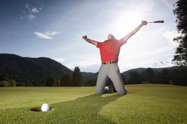 golfista esultante